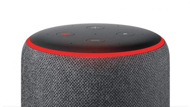This Is Local London: A red light ring means the Echo's microphones are turned off, and Alexa can't hear your conversations. Credit: Amazon