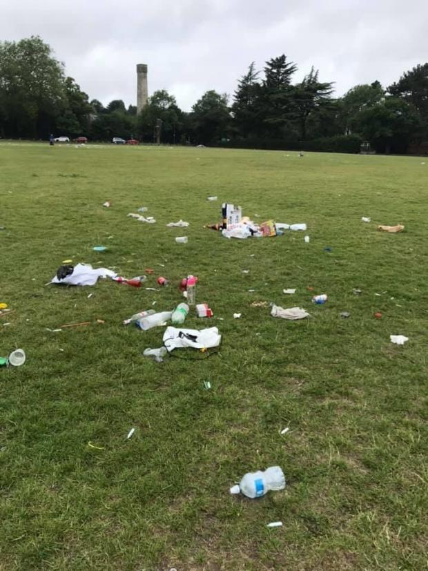 Parks across the south east of London have been subject to widespread littering in recent weeks as the Government's Covid-19 lockdown eases. Bexley Council have now urged residents to stop dumping their rubbish in parks such as Danson Park.