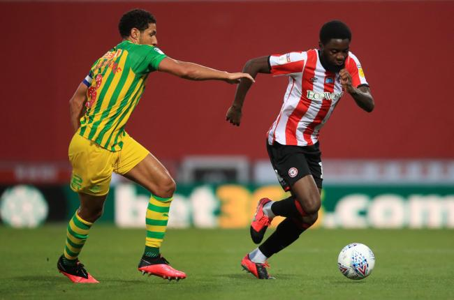 Who had their best game in a Brentford shirt in their 1-0 win over Baggies?