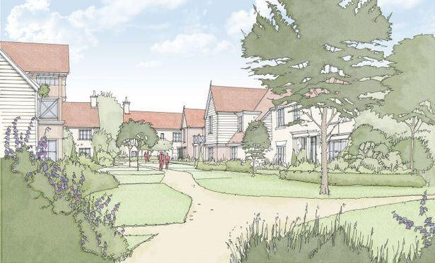 An artist's impression of what Stonehouse Park, Sevenoaks could look like. Image: Quinn Estates