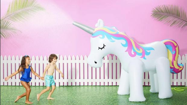 This Is Local London: This unicorn sprinkler looms above kids, but it's a good size for adults, too. Credit: Sun Squad