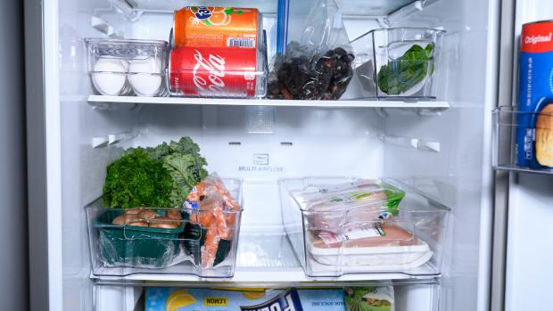 This Is Local London: Use an organising set to create more storage zones in your fridge. Credit: Reviewed / Betsey Goldwasser