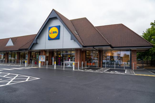 The outside of the new Lidl store in Harrow Weald