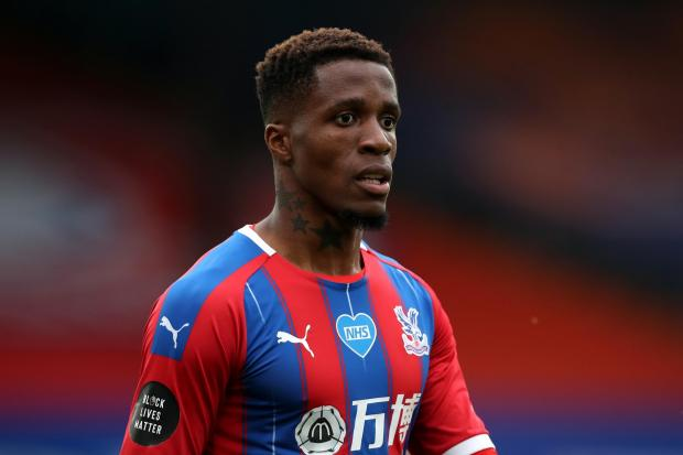 Zaha, 27, shared the racist messages he received on his Twitter account
