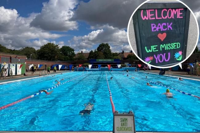 Charlton Lido in south east London has today (Saturday July 11) joined other popular pools including Hampstead Heath in reopened its facilities.