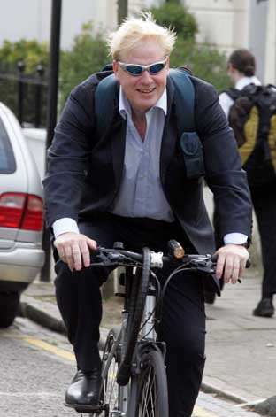Mayor Boris Johnson wants 2010 to be the 'year of the bike'. Photo: GLENN COPUS