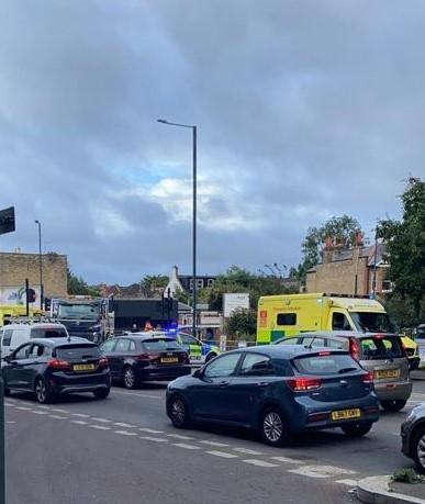 Emergency services attend Wimbledon collision