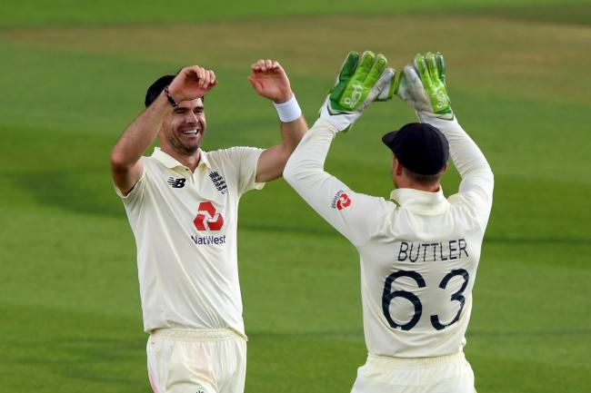 James Anderson took two wickets