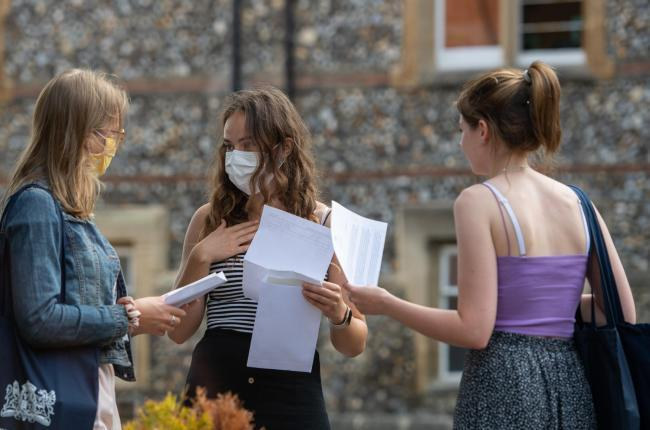 Almost four in ten pupils saw predicted grades drop yesterday (Photo: PA Wire).