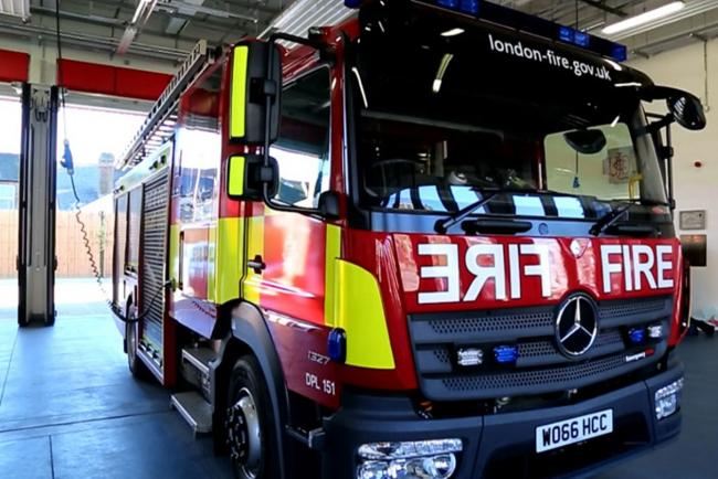 Four led to safety from fire in Hanwell flat