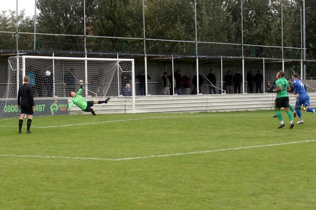 Ryan Blackman converts from the penalty spot. Picture: Phil Davison