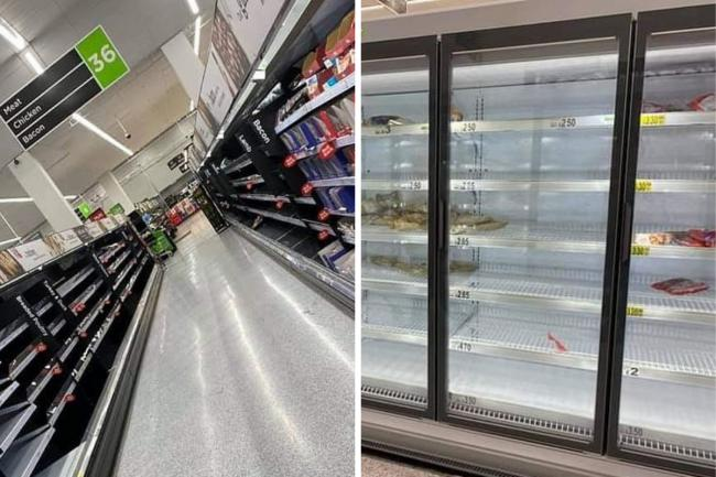 ASDA shoppers in London have posted pictures of empty shelves