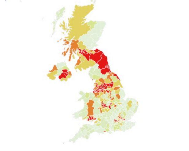 This Is Local London: This is what the UK is expected to look like in two weeks, with hotspots in red