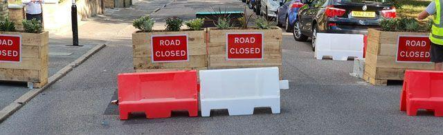 Road closures implemented at Crystal Palace by Croydon Council. Image: Croydon Council