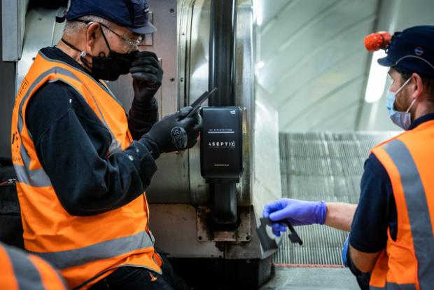 This Is Local London: TfL is installing UV light cleaners on more than 100 escalators (Photo: TfL).