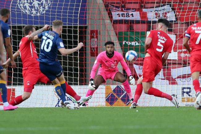 Lawrence Vigouroux kept a clean sheet to help Leyton Orient beat Stevenage Picture: Simon O' Connor