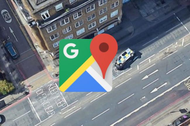 Google Maps captured what appears to be a police van crash in London