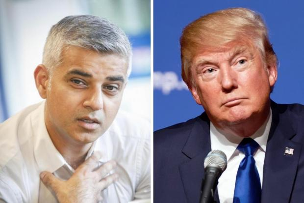 This Is Local London: Sadiq Khan (left) and Donald Trump have clashed repeatedly since 2015.