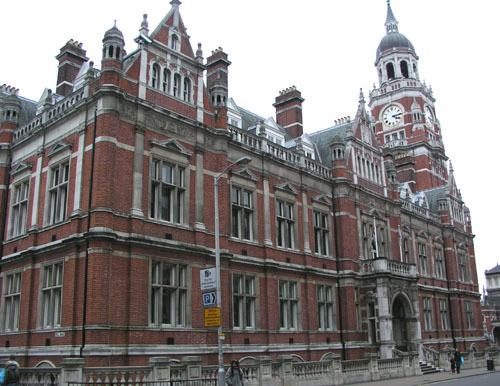 Croydon Town Hall.The council said it was suspending garden waste collection services.