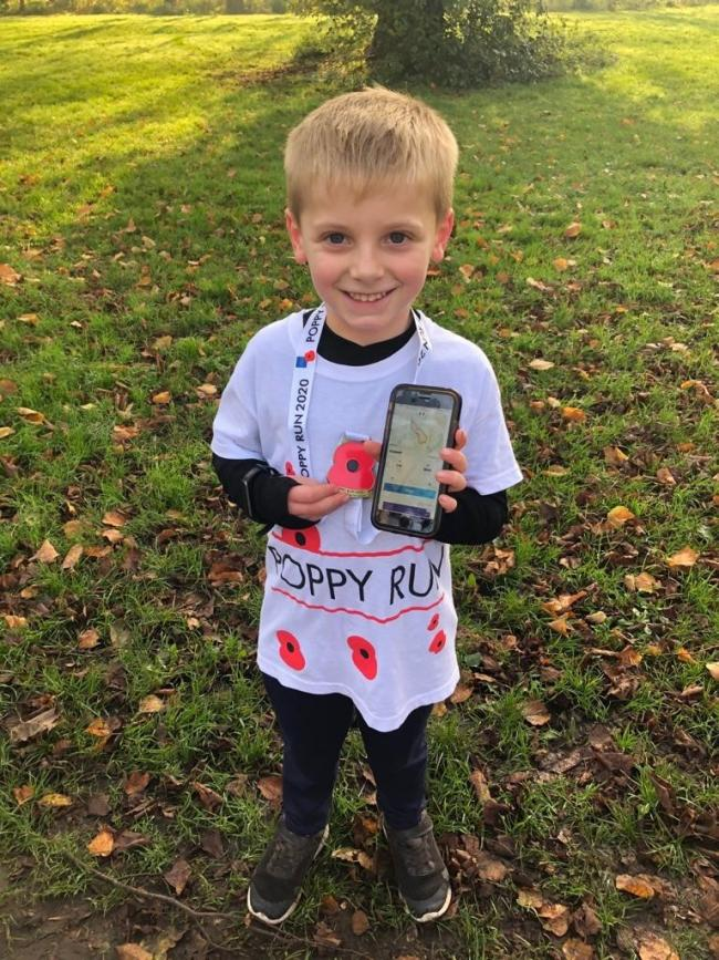 Jude, 6, ran 5k for the Poppy Appeal