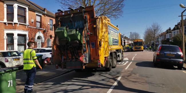 Bin collections have been hit by staff shortages across south east London this week