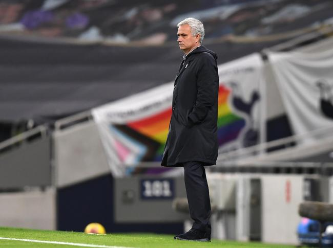 Tottenham Hotspur manager Jose Mourinho on the touchline during the Premier League match at the Tottenham Hotspur Stadium, London.