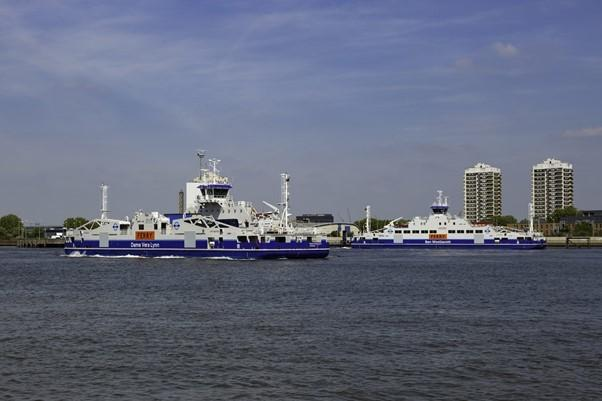 The Woolwich Ferry, set for Transport for London takeover after a turbulent few years.