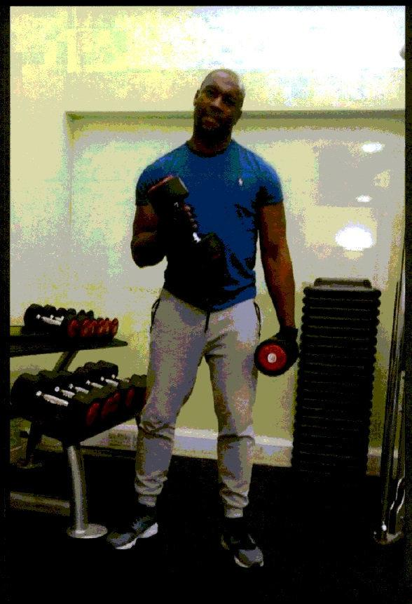 This Is Local London: Richard Charles seen lifting weights in a picture on social media