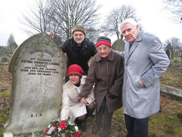 Graham Reeve, Marjorie Reeve, Ron Curran (biographer of Peter Curran, no relation) and Cath Arakalian
