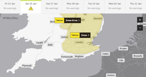 This Is Local London: The Met Office has issued a weather warning for tomorrow