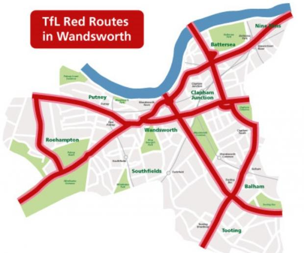 This Is Local London: The Mayor's network of strategic 'red routes' in Wandsworth
