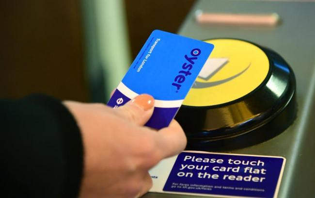 Oyster card at a London tube station. PA Images