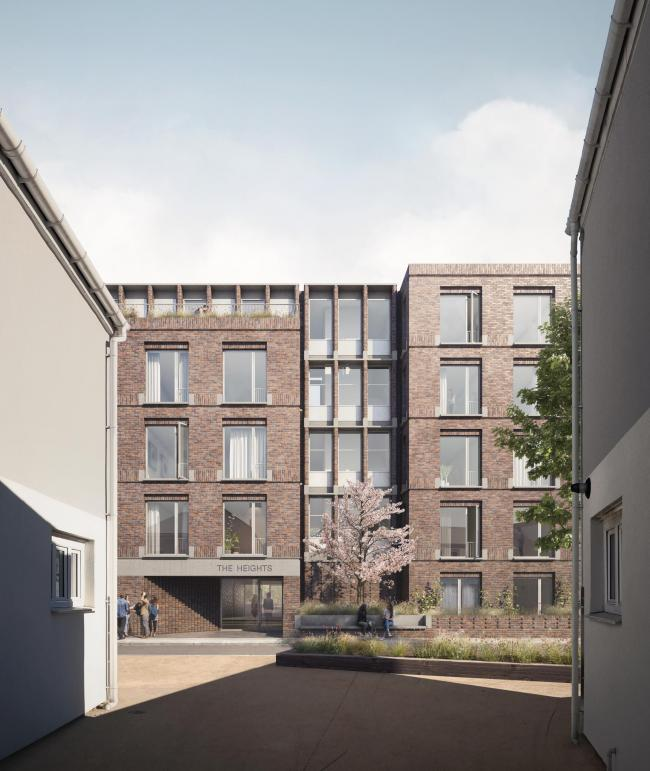 New pocket flats due to be built in Charlton, Greenwich, south east London.