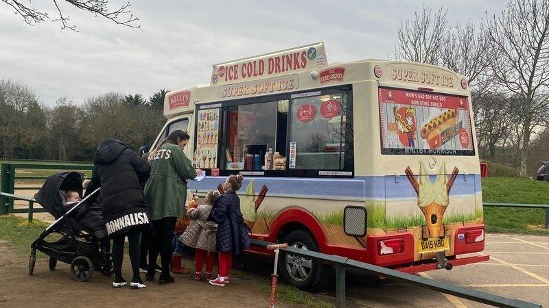 Staceys ice cream van in Danson Park