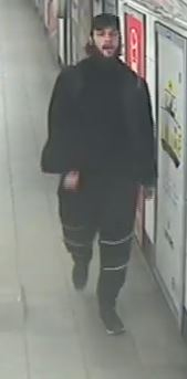 William Fernandez, 24, at Oxford Circus Underground Station in London. Met Police
