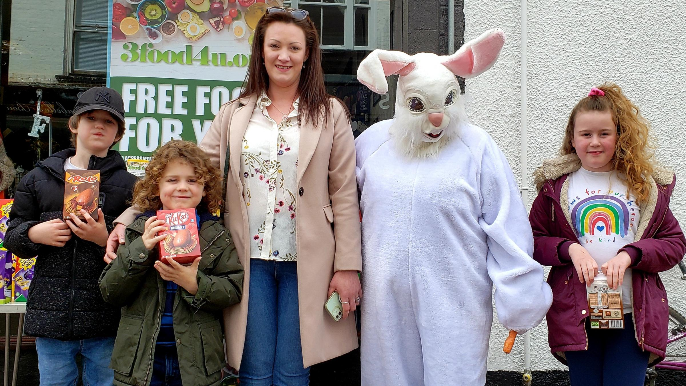 Bunny Mersaides Fowler gave out eggs on Good Friday and Easter Monday