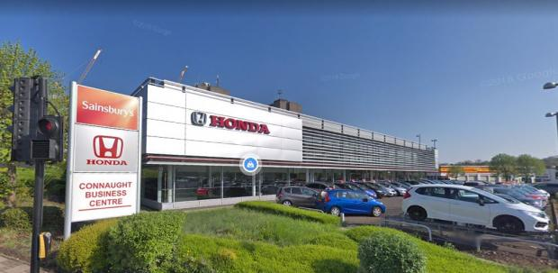 This Is Local London: The Crown Honda showroom in Hyde Estate Road (Image: Google Maps)
