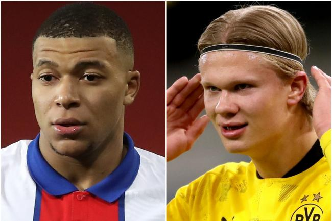 Kylian Mbappe and Erling Haaland