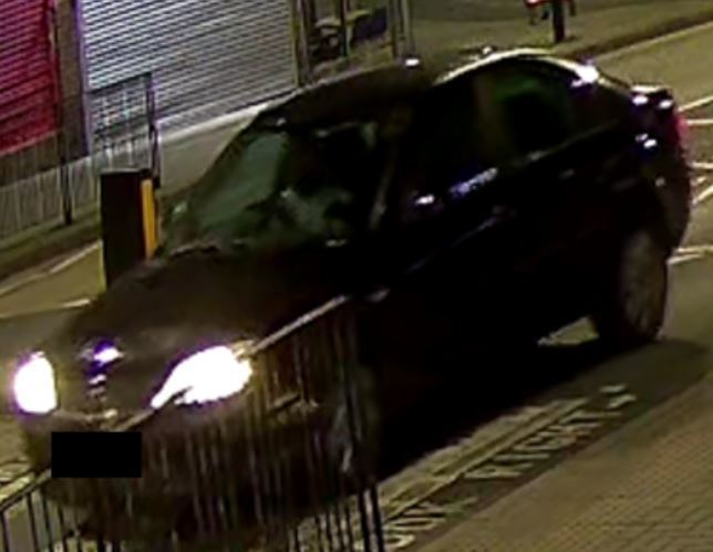 The black Ford Mondeo that was caught on CCTV (Photo: Met Police)