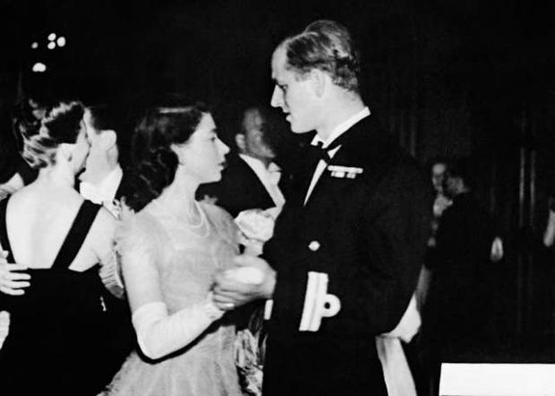 This Is Local London: Princess Elizabeth dancing with her fiance, Lieutenant Philip Mountbatten (PA)