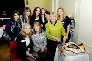 This Is Local London: Linda Hutchinson with some of her former students at her farewell party