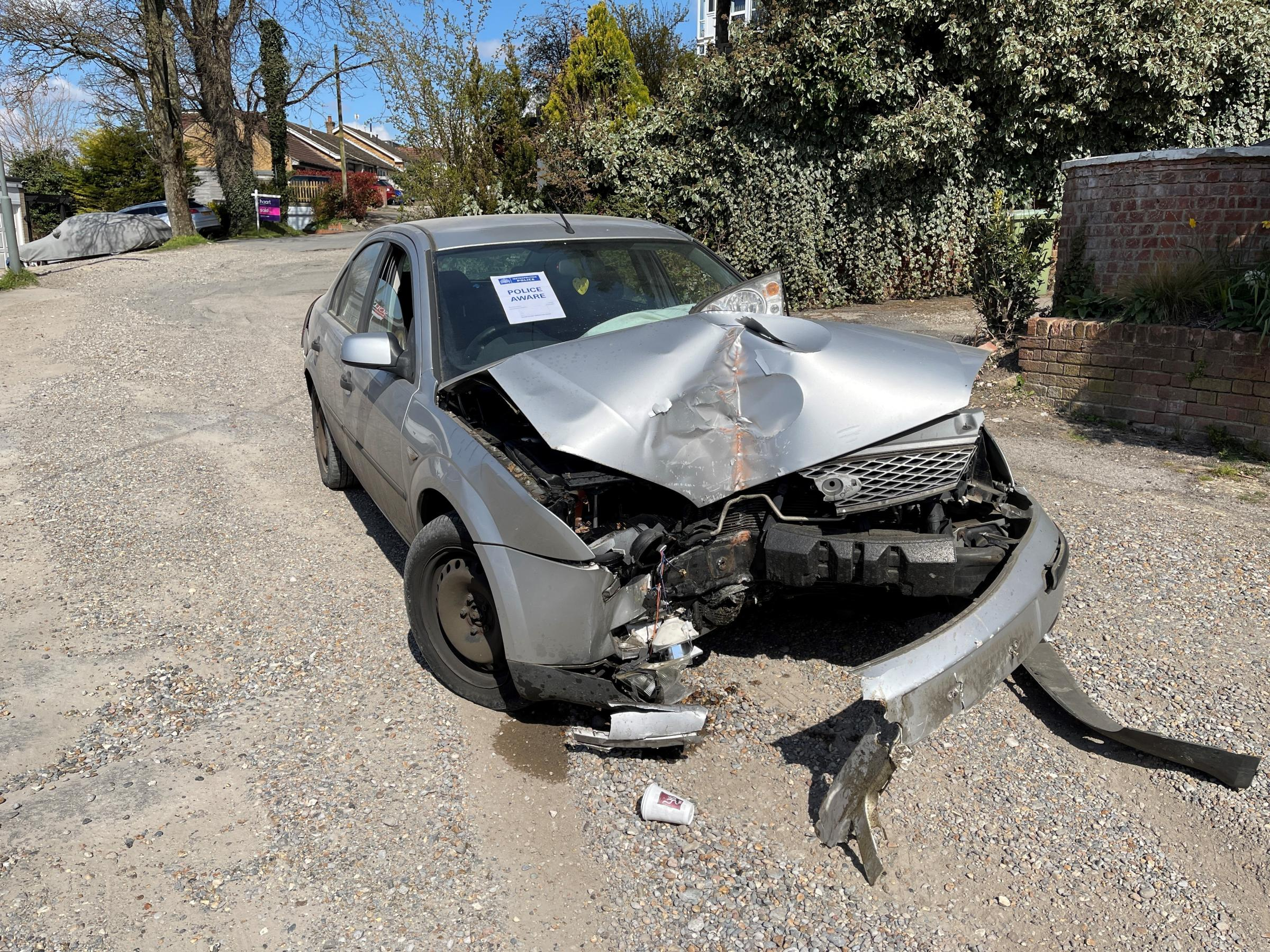 Photos taken at the scene in Biggin Hill - Andrew Clift