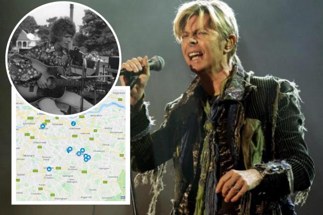 David Bowie was born and raised in south east London. Here we look at all the places that were significant to him