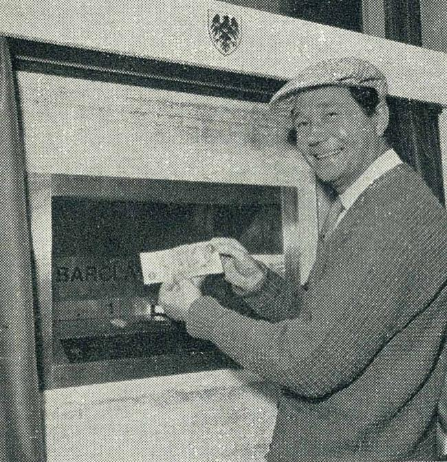 Reg Varney and the Enfield cashpoint