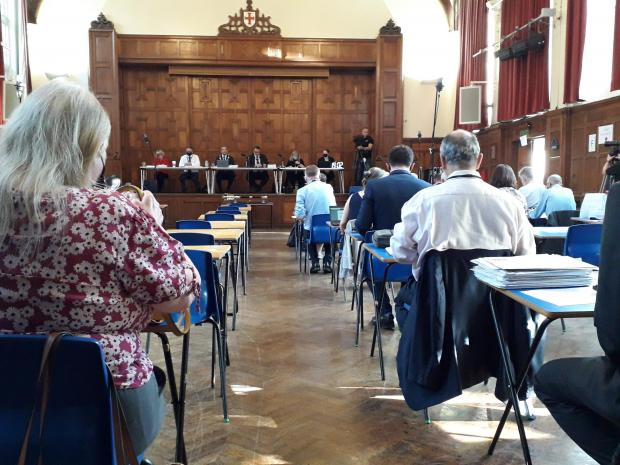 This Is Local London: Councillors clashed during a meeting at Enfield Grammar School