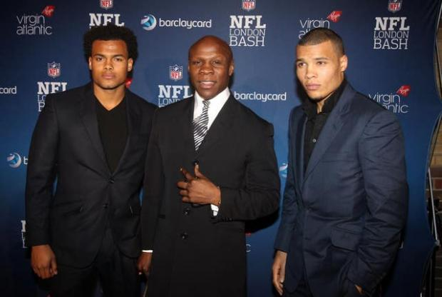 This Is Local London: Chris Eubank, centre, with sons Sebastian, left, and Chris Jr, right. Sebastian has died in Dubai aged 29 (Lewis Whyld/PA)
