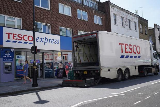 This Is Local London: A Tesco deliver van in London - PA