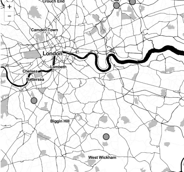 This Is Local London: A Newsquest map of 9/11 victims in London.