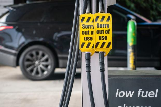 This Is Local London: Fights have broken out at fuel pumps in south London due to the recent shortages - PA