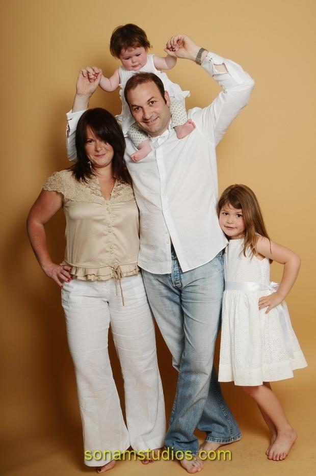 Steven Rodway with his family